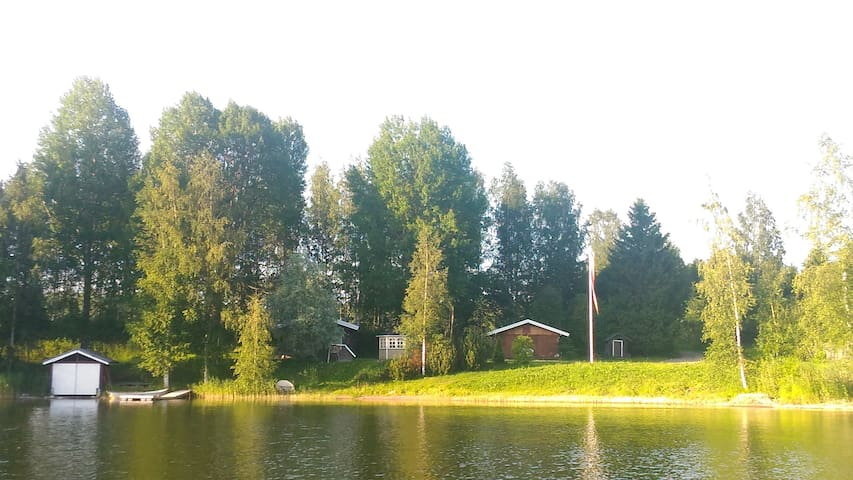 Cottage on lake of Simpele, Parikkala.