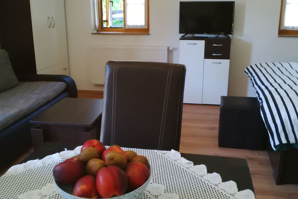 TV, Sofa, Dining table, coffee table
