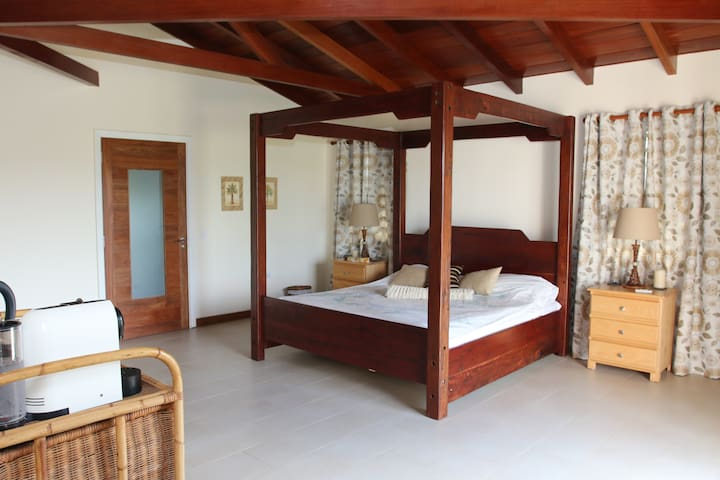 Large en-suite bedroom, own entrance. - Cap Malheureux - Penzion (B&B)