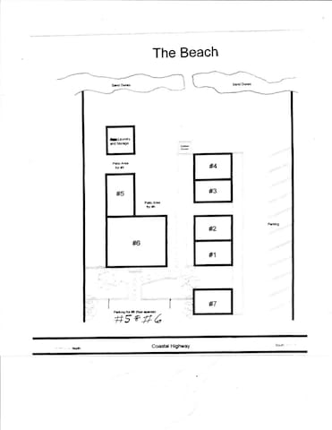 Map of the Surfside Cottages Complex