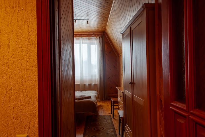 Double room with private bathroom near lake Rāzna