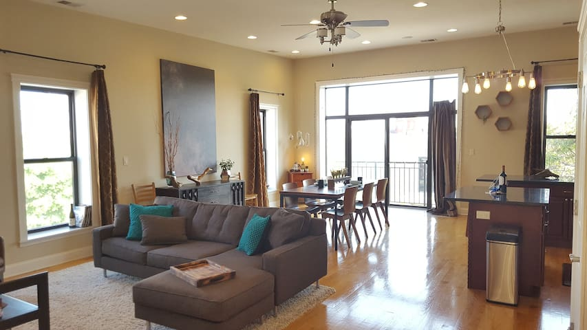 Big Sunny West Town Condo w/ view - Chicago - Maison