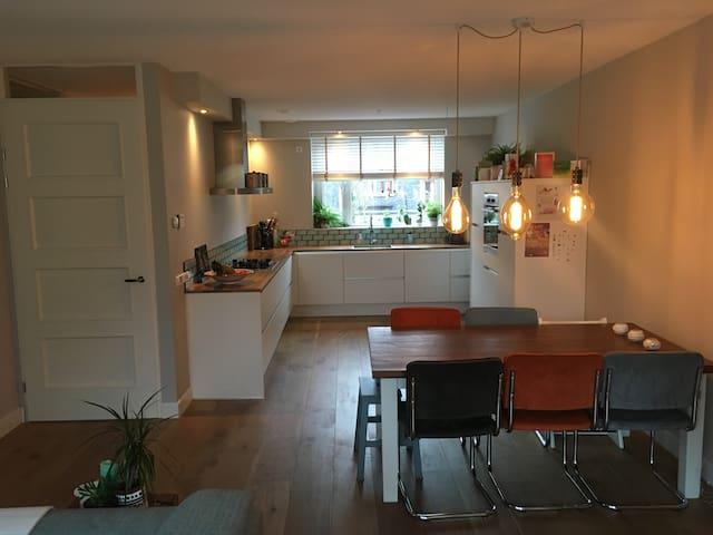 Ground floor; kitchen and living
