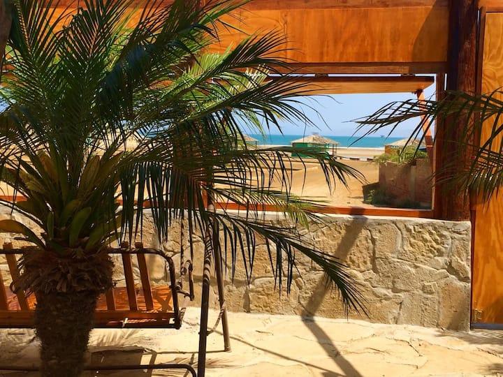 PRIVATE CABIN FRONT OF LOBITOS BEACH - TALLAKI