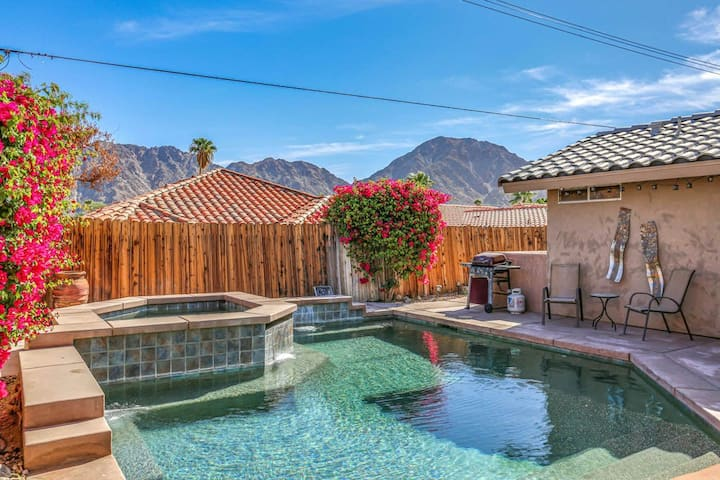 Lovely, dog-friendly home w/ a private pool, furnished patio, & mountain views