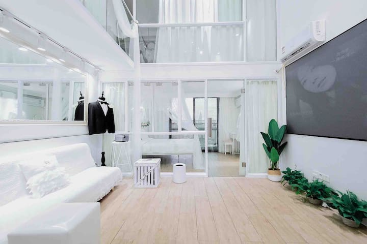 『HalfDream·Y』#Loft复式公寓#纯白田园风#南油#深圳湾#蛇口港