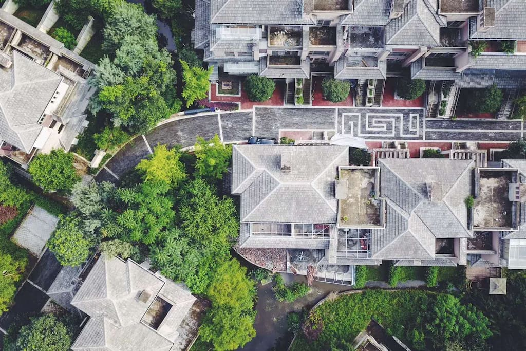 小区 Compound  arial view