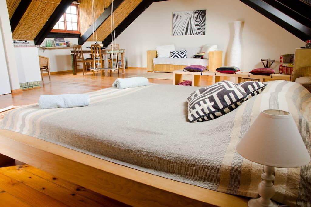 Your spacious loft apartment.