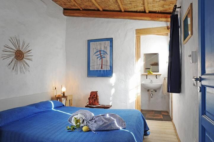 Mediterranean sea style in the bedroom