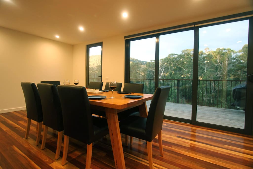 Enjoy a meal with friends and family with the beautiful outlook.