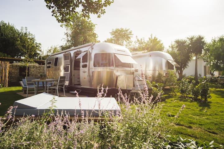 Airstream Procida, luxury camping in the island
