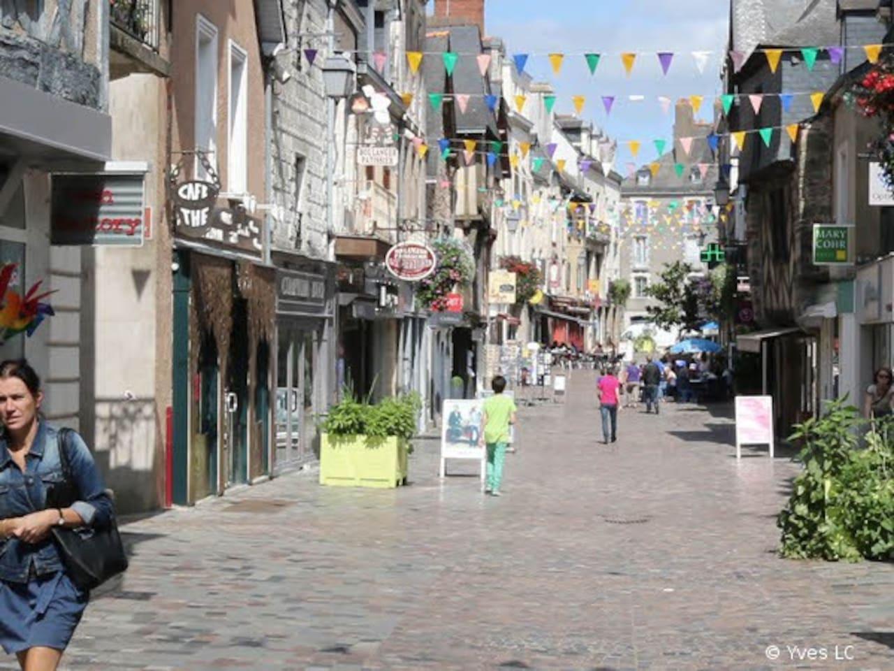 Centre ville historique de Redon l'appartement se trouve dans cette jolie petite rue piétonne