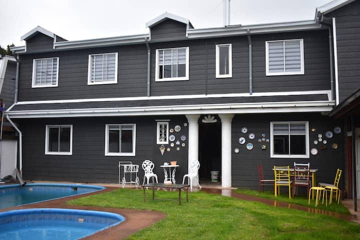 Cabaña 2 con piscina