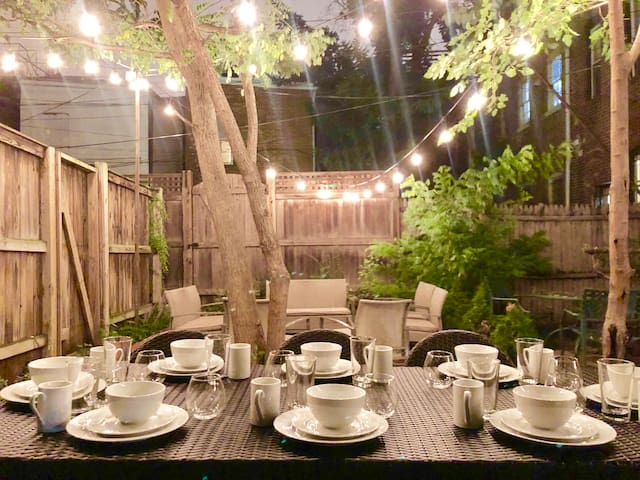 Back Patio at Night
