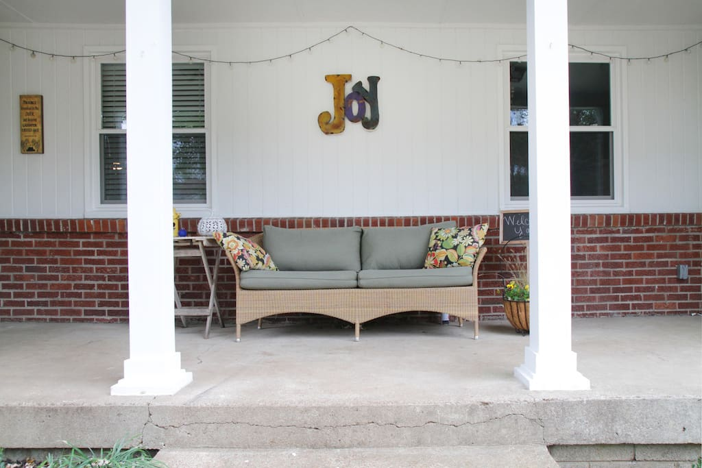Enjoy your fav beverage morning, noon or night on the front porch.