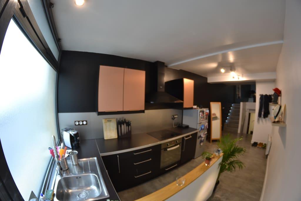Bel appartement de type loft rouen appartements louer for Appartement type loft