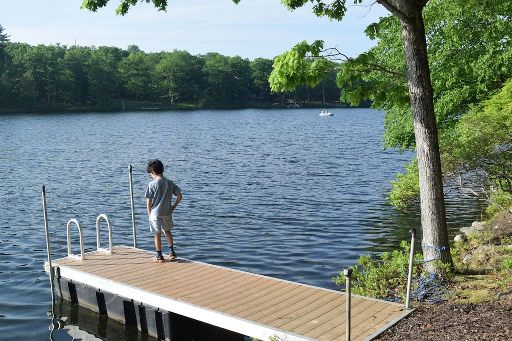 Relax in our private dock. Fish, Swim, Boat from our property