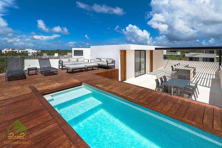 60mbps WIFI! 3DBR / Private Rooftop & Pool !