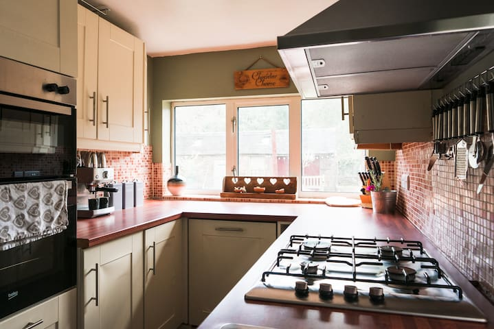 This well equipped kitchen will cater for groups for breakfast to celebration dinners. Situated off the Lounge /Dining room on the ground floor.