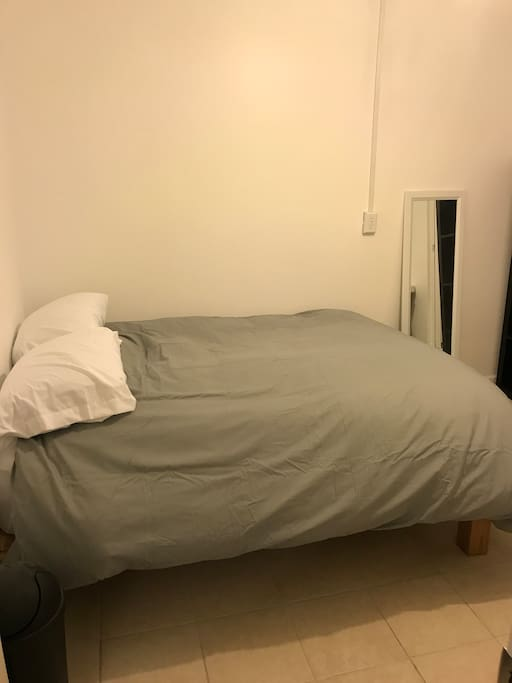 The bedroom with the double bed.