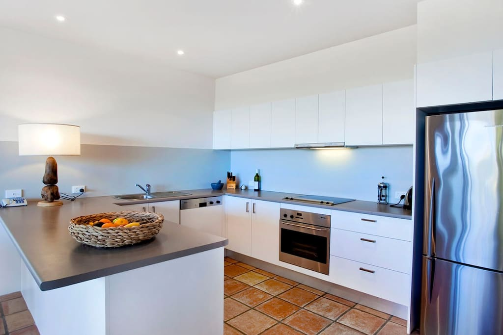 Quality appliances in well equipped kitchen