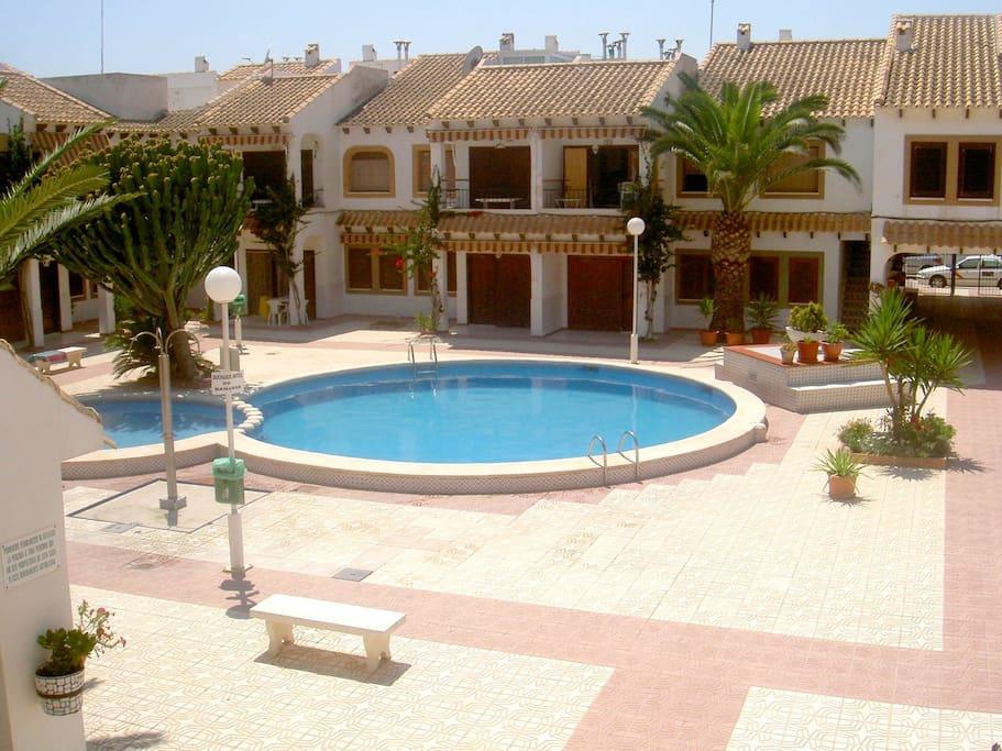 Poblado Pescador Rear Courtyard and Pool
