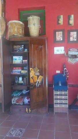 Habitación en Finca Hostal Cafetera -Tour del Cafe - San Gil - Casa de campo