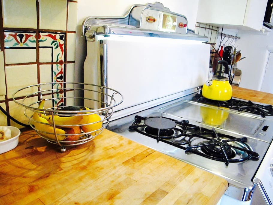 Clean, well-appointed kitchen