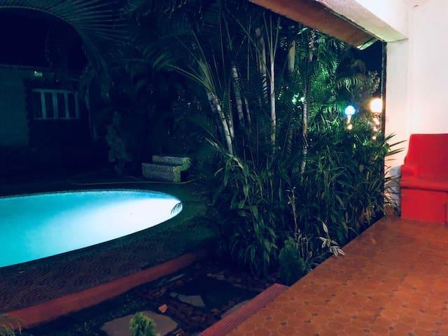 Villa6 ,pool facing ,luxury villas   ,Anjuna GOA
