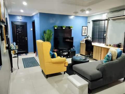 Opp Ikj GRA-Acogedor apartamento en Shonibare Estate MD