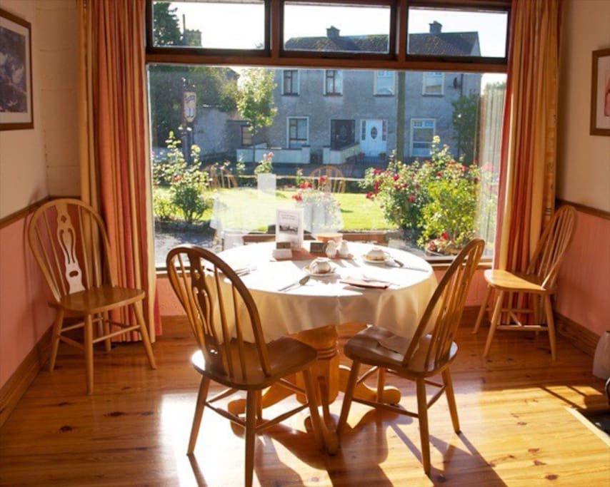 Our dining room overlooking the garden