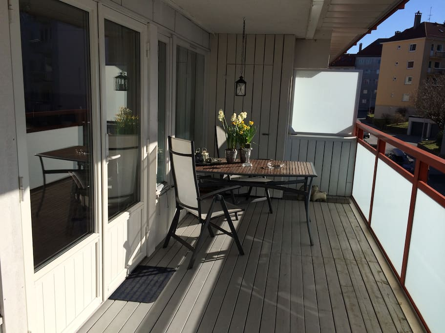 Private, big and sunny terrace