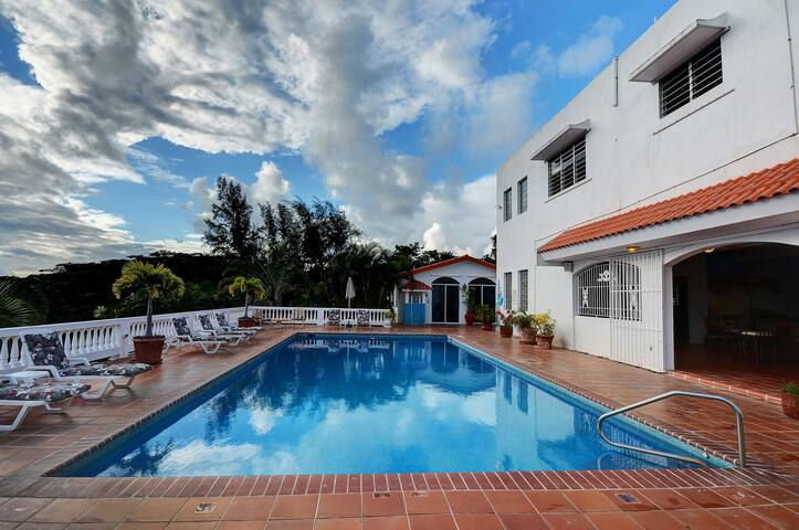 Villa overlooking Caribbean 10K SF