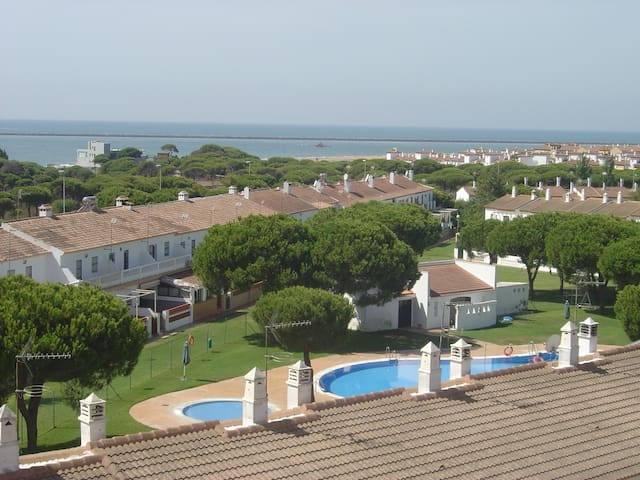 Apartment-sea views & swimming pool - Mazagón