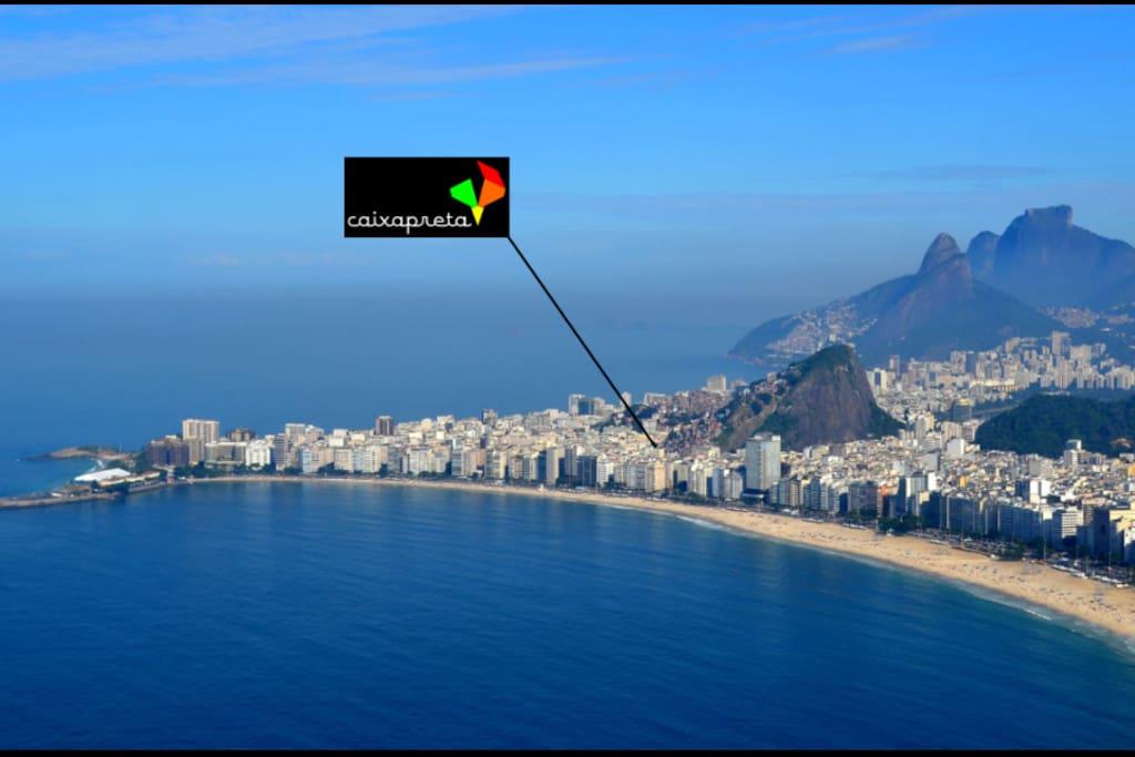 Our location in the heart of Rio (Copacabana beach and Ipanema beach)
