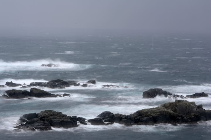 The sea on a stormy day