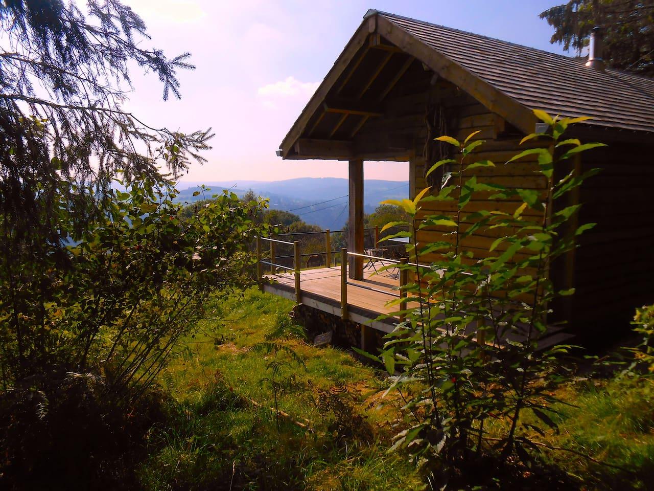 Espace, vue, terrasse, nature