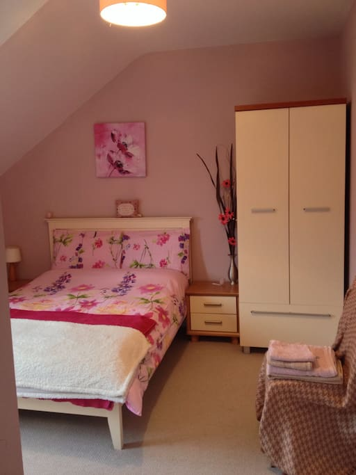 Double bedroom with storage.