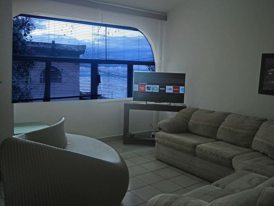 Living area with sofas, 42 smartv