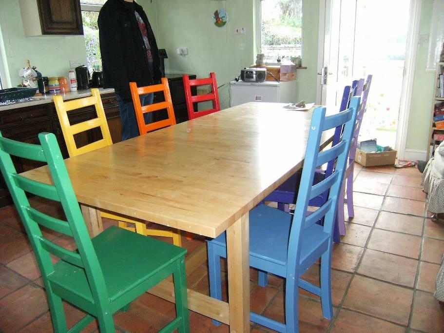 Green - rainbow kitchen