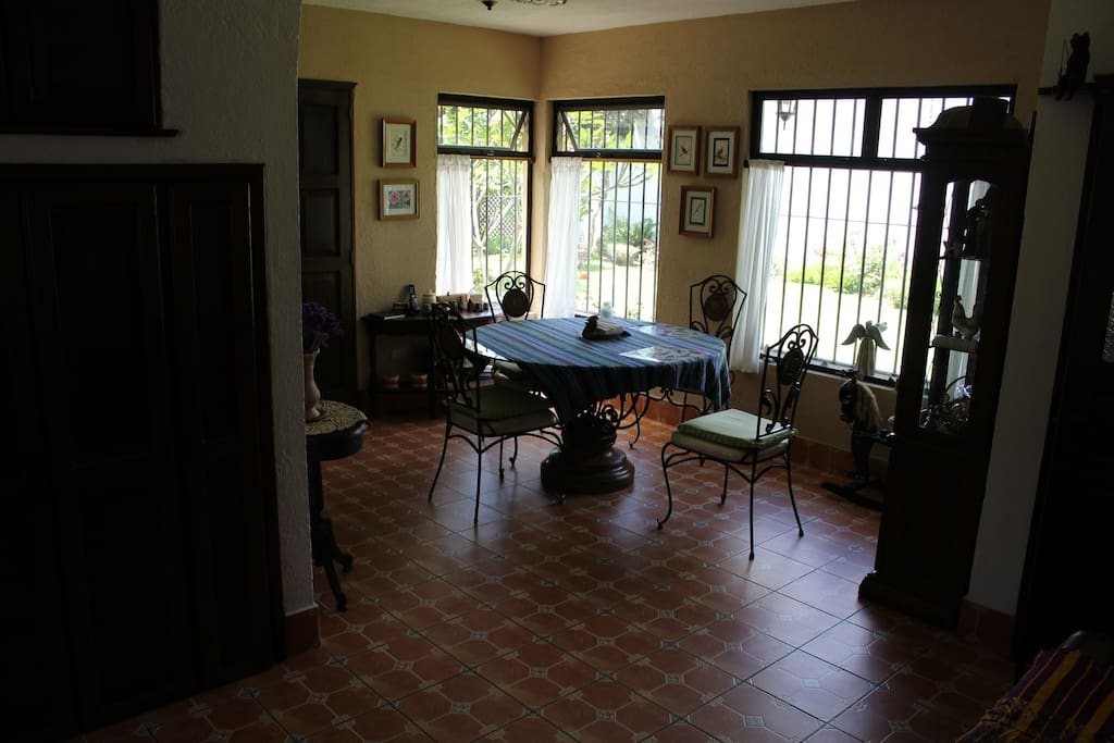 Dining room w/view of garden