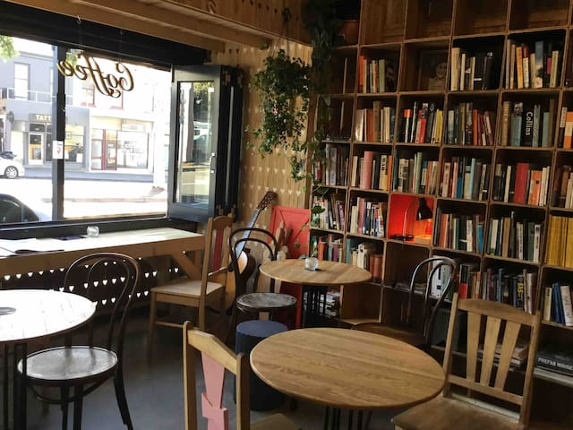 This is our cafe where you are welcome to complimentary coffee and toast.  The Heart of Carlton Mon - Sat 7am - 4pm Not open Sundays