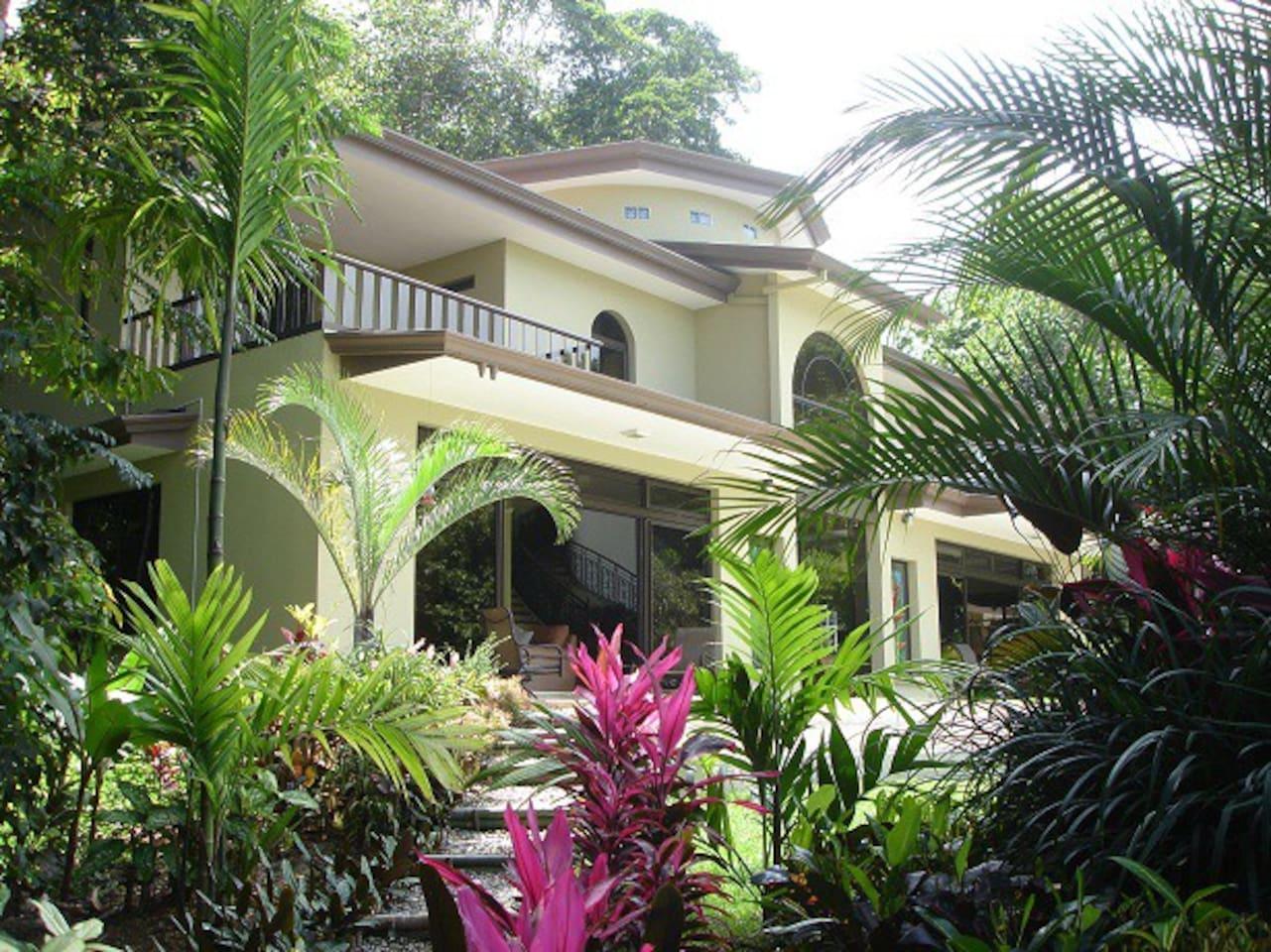 Mansion de 400m2 située dans un environnement exotique de pleine nature tropicale.