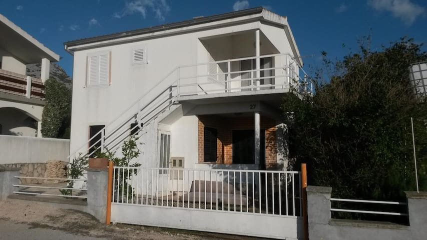 Two bedroom apartment with terrace and sea view Seline, Paklenica (A-17115-a)