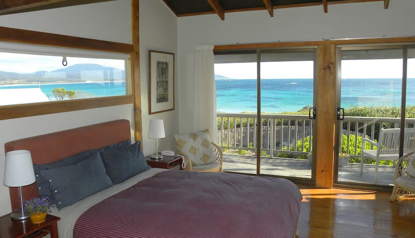 Aurora Beach Cottage - Main bedroom view