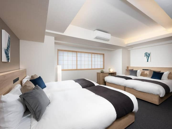 【Free Wi-fi staff services】 4beds,