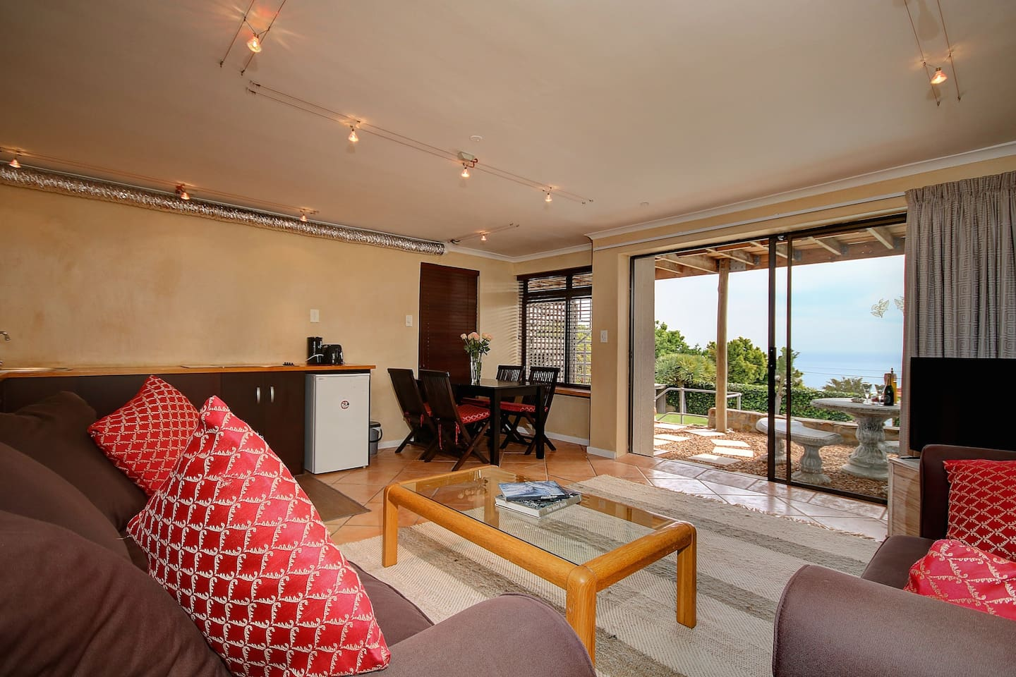 Private, Spacious, Open Plan Apartment with Large Sea View Patio