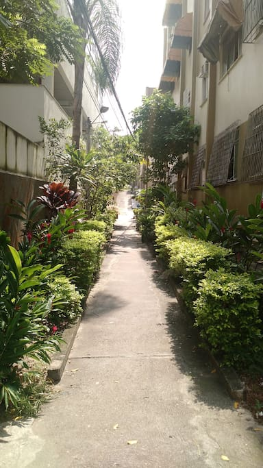 Caminho até o prédio