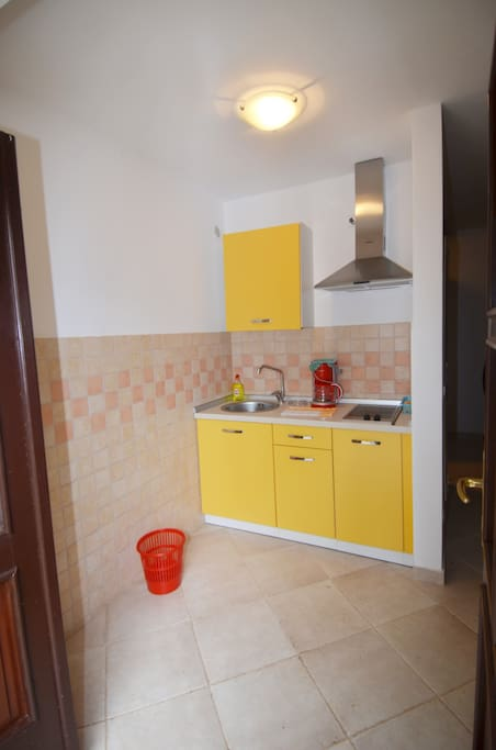 Studio apartment 1 - ground floor .It has one bedroom with a double bed, a small kitchen and a bathroom with a shower.