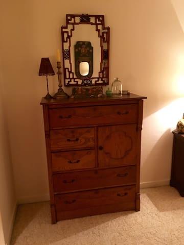 Dresser and storage space...
